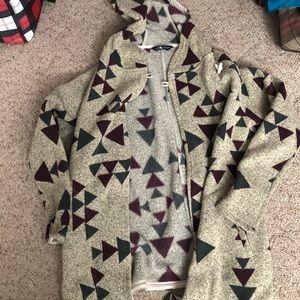 Sherpa lined cardigan